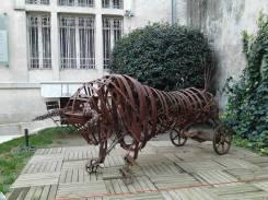 Toro métallique (matériaux de récupération, fer)