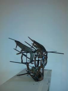 Tête de Toro (pièces diverses de métal de récupérations soudées)