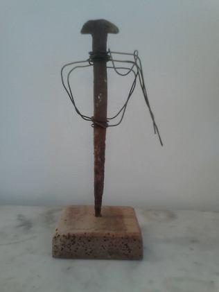 """""""Toréro"""" (matériaux de récupération : bois, fer)"""