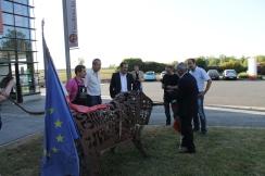Inauguration de l'exposition à la Cave de Técou avec le Consul du Portugal
