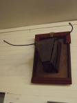 Tête de Toro (matériaux de récupération, bois, fer)