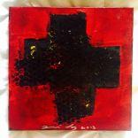 Photographie d'une toile de la serie Chemin de croix - Jose Vaz Plasticien