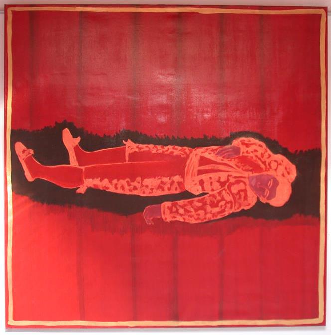 Photographie d'une toile de la serie Toros de Lidia - Jose Vaz Plasticien